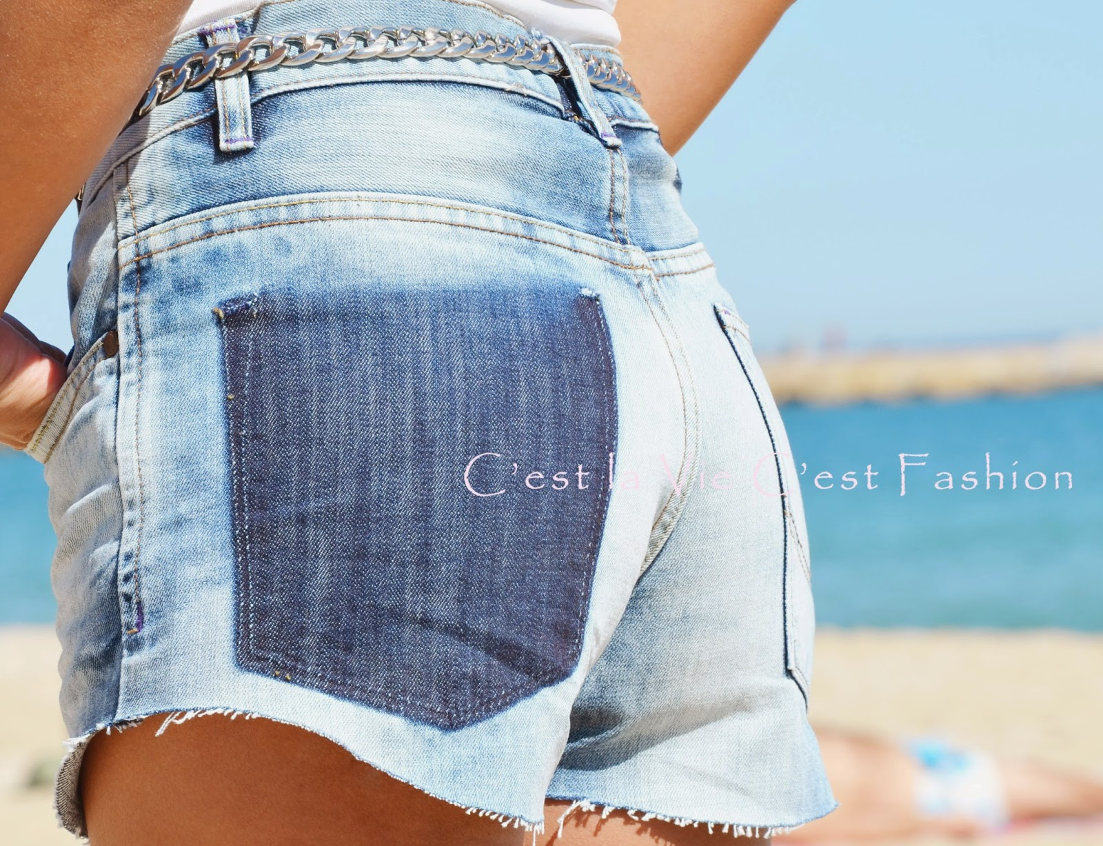 616d3f2ff6 D.I.Y   Como hacer unos shorts de tejanos  Que hago con mis jeans viejos